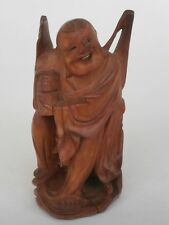Winking Chinese Man - WOOD CARVING - 115mm high
