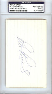 Pete Runnels Autographed Signed 3x5 Index Card Boston Red Sox PSA/DNA #83862384