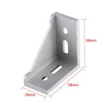 5pc Aluminum 90 Degree L Shape Corner Joint Brace Right Angle Bracket 58mmx58mm