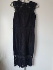 Ladies NEXT Black Lipsy Lace Dress Size 12 Tall New With Tags Wedding Party