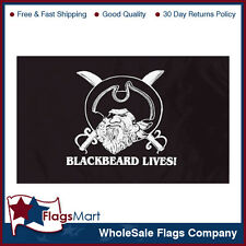 3x5 ft Black Beard Lives Flag #F1203