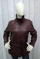 ARMANI JEANS Donna Taglia M Giacca Di Pelle Woman Leather Giubbotto Jacket Coat