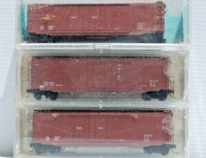 Dimensional Data - 3 x N Scale 50' Box Cars Plug Door. Kadee P/N 36000[2], 32000