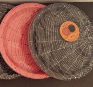 "16 Halloween Hallmark Spooky Scene Lunch Dinner Party Paper Plate 8.75"" Diameter"
