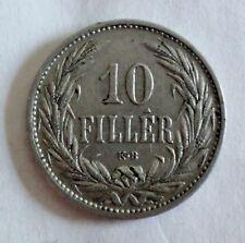 Haus Habsburg Ungarn - 10 Filler 1908 - Kaiser Franz Josef I. 1848-1916 - ss-vz