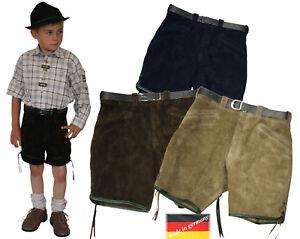 kurze sportliche Lederhose Bermuda Shorts Kinder  Pfadfinder  Made in Germany