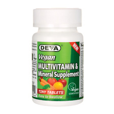 Deva Vegan Multivitamin & Mineral Supplement 90 Tabs
