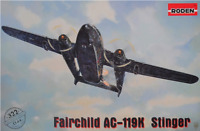 Roden 322 - Fairchild AC-119K Stinger - 1/144 scale model airplane kit 231 mm