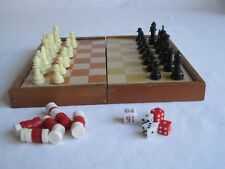 Vintage Taiwan Made Magnetic Multi Games Compendium Chess Checkers Backgammon