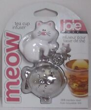 Joie MSC MEOW Tea Cup Infuser White Cat pink nose fish 18/8 Stainless Steel