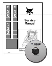 Bobcat 520 530 533 Skid Steer Loaders Service Repair Manual CD + Download