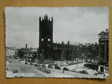 OLD BLACK & WHITE POSTCARD OF THE CATHEDRAL, MANCHESTER