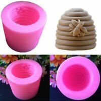 2pc 3D Bee Silicone Aroma Candle Mold DIY Soap Gypsum Clay Making Cake Baking