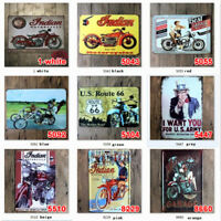 20*30cm metal Tin Signs Motorcycle Plaque Art Wall Poster Iron Garage Paintings