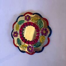 Hand Painted Tin Mirrors Set of 2