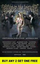 CRADLE OF FILTH 2018 Laminated Australian Tour Poster