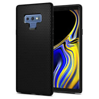 Samsung Galaxy Note 9 Case, Spigen [Liquid Air] Black Slim TPU Shockproof Cover