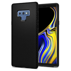 Samsung Galaxy Note 9 Case, Spigen®[Liquid Air] Black Slim TPU Shockproof Cover