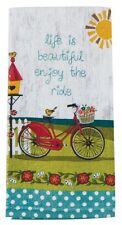 Kay Dee Terry Towel Enjoy the Ride Red Bicycle Printed  Kitchen Cotton Gift