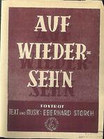 """Eberhard Storch :  """" Auf Wiederseh'n """""""
