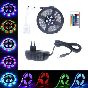 1/2/3/5M 5050 SMD LED Stripe RGB BAR Stripes Band Light Lamp Holiday Lights