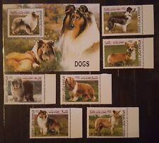 Briefmarken Hunde Afghanistan Bl.+satz,postfrisch