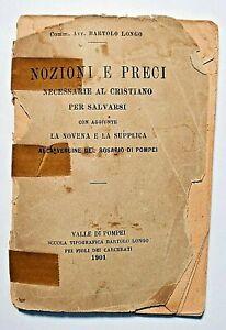 Antique Italian Catholic Prayer Book Bartolo Longo Pompei 1901