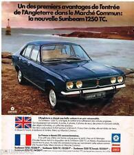 PUBLICITE ADVERTISING 095  1973  SIMCA  LA  SUNBEAM  1250 TC