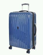 IT Luggage Gloss 8-Wheel Hard Shell Poseidon Medium Blue  Suitcase New!!!