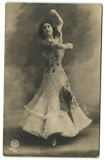 Spanish dancer Chavita beautiful lady vintage real photo postcard