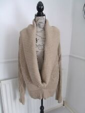 STUNNING BEIGE CHUNKY WINTER JUMPER SIZE 14 16 EXCELLENT CONDITION