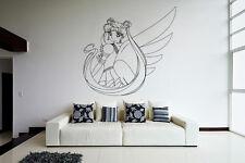 Wall Vinyl Sticker Decal Anime Manga Sailor Moon Girl VY210