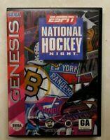 ESPN National Hockey Night - w/Box (Sega Genesis, 1994)