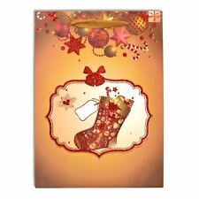 1 x Small Luxurious Christmas Gift Bag -Xmas Decorative Glitter Paper Bag