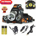 Genuine 100%BORUiT 30W 20000LM 3*XML T6 LED Headlamp hunting Torch Headlight LOT