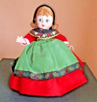 """Collectible Madame Alexander Doll """"Swedish"""" Sweden 1970's Doll 8"""""""