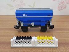 LEGO Blue Hopper Train Car Carriage Set 4536-1 9V train System Complete VGC