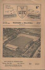 WATFORD V MILWALL 1959/60 MATCHDAY PROGRAMME - DIVISION IV - 05/03/1960