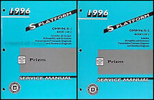1996 Geo Prizm Shop Manual 2 Volume Set 96 Chevrolet Repair Service Manual Prism