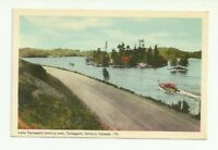 LAKE TEMAGAMI LOOKING WEST, TEMAGAMI, ONTARIO, CANADA VINTAGE POSTCARD