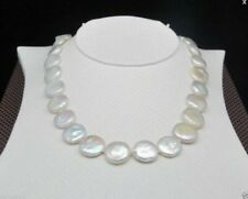14-15mm huge white baroque south sea pearl necklace 18 inches AAA Chic
