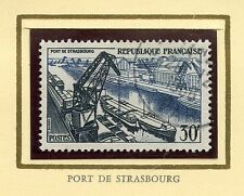 STAMP / TIMBRE FRANCE OBLITERE N° 1080 PORT DE STRASBOURG