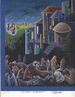 AFRICAN AMERICAN ART PATRICK GERALD WAH SIGNED LITHOGRAPH / silkscreen W/COA S/N