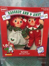 Vintage 1990 Playskool Collectors Raggedy Ann & Andy Special Holiday Edition NIB