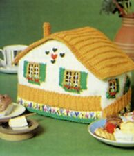 KNITTING PATTERN - PRETTY COUNTRY COTTAGE TEA COSY IN DK WOOL