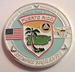 CIVIL AIR PATROL PUERTO RICO Challenge Coin USVI VIRGIN ISLANDS CAP Air Force