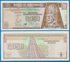 Guatemala 1/2 Quetzal P 98 1998 UNC Low Shipping! Combine FREE! Half Q 0.50