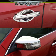 Fits 13-17 ALTIMA Chrome 4 Door Handle Covers Bowl+Mirror Covers w/Signal Cutout