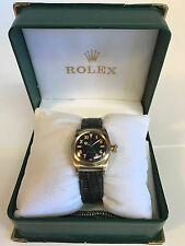 Rolex 14k Bubble Back model 3131 Black Dial 1946 Vintage Watch - Nice !
