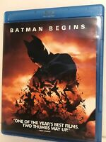 Batman Begins (Blu-ray Disc, 2005, Widescreen) Like New !  Christian Bale